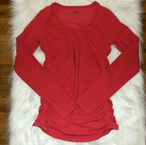 Athleta | Ruched Long Sleeve T-Shirt Women's SZ M